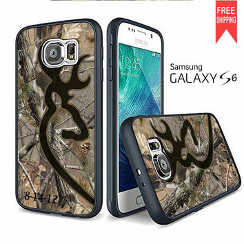 Love Browning Deer Camo Real Tree Couple Left Caseperson Samsung Galaxy S6 edge Case