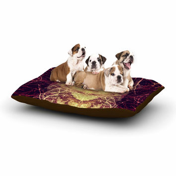 """Pia Schneider """"Burning Roots IV"""" Maroon Celestial Dog Bed"""