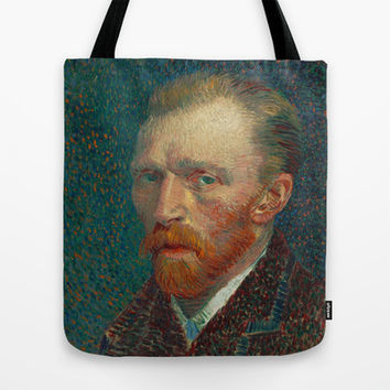 Vincent Van Gogh Self-Portrait Tote Bag by TilenHrovatic