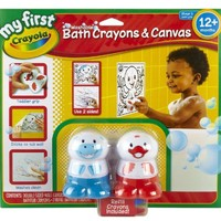 Crayola My First Crayola Dual-Sided Bath Canvas and Crayon Set