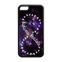 First Design Custom Hakuna Matata With Nebula Background Unique Best Durable Silicone and Plastic Iphone 5C Case