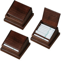 Walter Walnut Wooden Desktop Cigarettes Holder