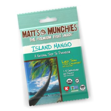 Matt Munchies Premium Fruit Snack Island Mango Flavor 1 Oz - Pack of 12
