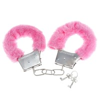 onegood Soft Steel Fuzzy Furry Cuffs Working Metal Handcuffs (pink)