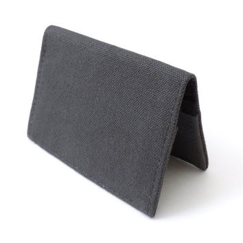 Canvas Fold Wallet Slim Bifold Wallet Gray