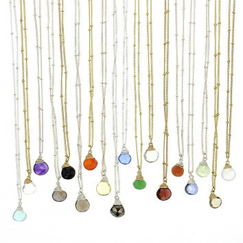 Gold Trinket Stone Necklaces