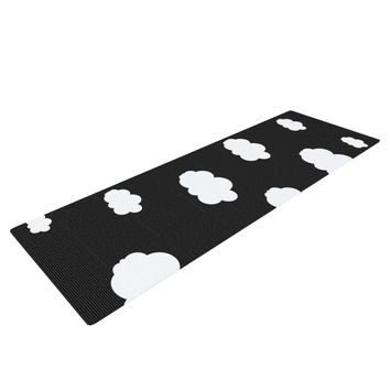 "Suzanne Carter ""Clouds"" Black White Yoga Mat"