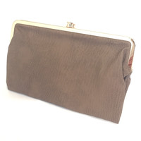 Sandra Double Clasp Wallet In Nutmeg
