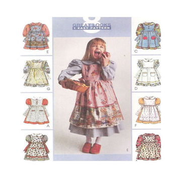 Uncut  Sewing Pattern Girls Dress and Pinafore Size 4 5 6 McCalls 8975 8 Great Looks