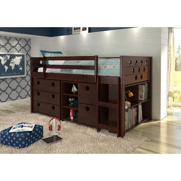 Donco Kids Circles Modular Low Loft Twin Bed