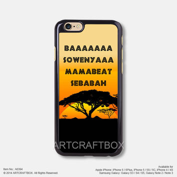 Hakuna Matata Disney iPhone 6 6Plus case iPhone 5s 5C case 394