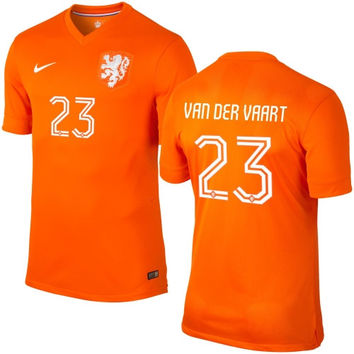Van Der Vaart #23 Netherlands Nike 2014 World Soccer Authentic Home Jersey - Orange - http://www.shareasale.com/m-pr.cfm?merchantID=7124&userID=1042934&productID=540365854 / Netherlands