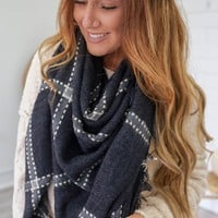 Chilly Morning Scarf - Black
