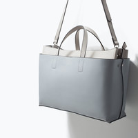 Office city bag with double body