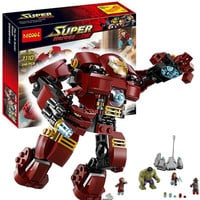 Decool Marvel Avengers Building Block Super Heroes Minifigures Iron Man Hulk Buster Smash Set Bricks Toys Compatible Legoe 76031