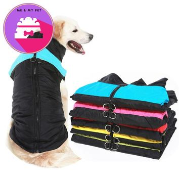 Plus Size Winter Warm Dog Clothes Cotton Big Dog Clothing Golden Retriever Windproof Pet Coat Jacket For Small Medium Large Dogs
