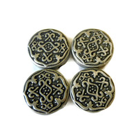 Silver Metal Tribal Connector Beads