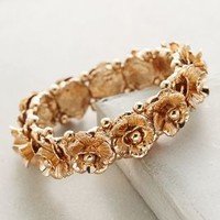 Ringed Roses Bracelet by Anthropologie in Gold Size: One Size Bracelets
