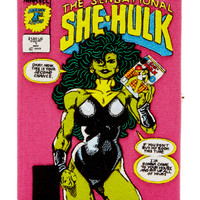 The Sensational She Hulk Embroidered Canvas Clutch | Moda Operandi