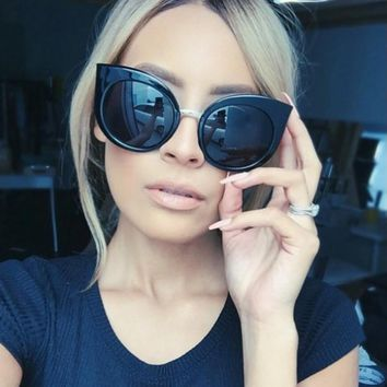 BOUTIQUE Fashion Women Acetate Frame Female Oversize Cat Eye Glasses Brand Design Vintage Sun glasses H1706