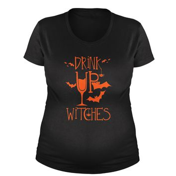 Drink Up Witches Maternity Pregnancy Scoop Neck T-Shirt