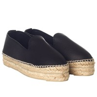Les Nouvelles + Manebi Exclusive Five Year Anniversary Black Leather Espadrille