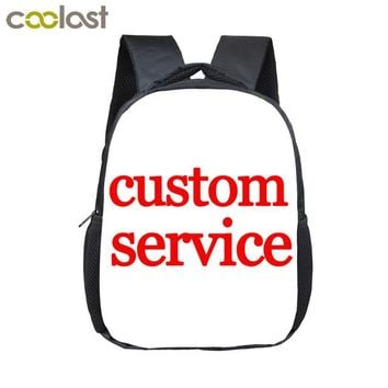 Boys Backpack Bag 12 inch Customize Your Logo Name Image Toddlers  Cartoon Children School Bags Baby Kindergarten  Kids Gift Bags AT_61_4