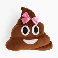 Bow Emoji Poo Throw Pillow | Pillows | rue21