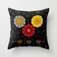 Color And Strawberrys Throw Pillow by Pepita Selles