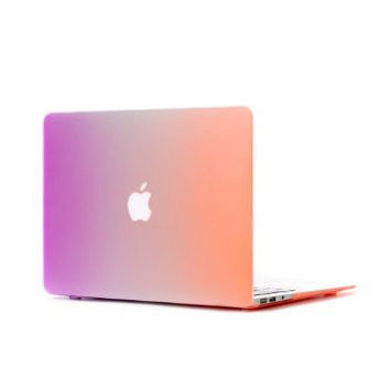Orange & Purple Rainbow Colored Hard Protector Case for Mac Book AIR or PRO Laptop Computer Cover