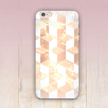 Geometric Rose Gold Print Phone Case - iPhone 6 Case - iPhone 5 Case - iPhone 4 Case - Samsung S4 Case - iPhone 5C - Tough Case - Matte Case