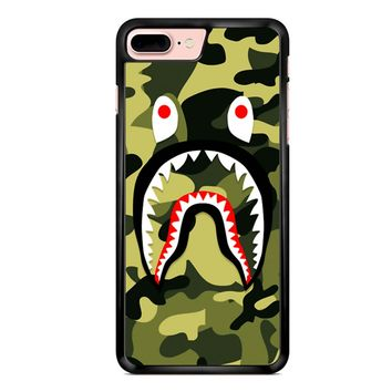 Bape Shark Green Camo iPhone 7 Plus Case