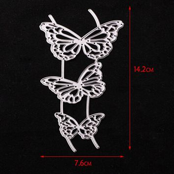 142*76mm butterfly Customized New scrapbooking DIY Carbon Sharp Metal steel cutting die Book photo album art card Dies Cut