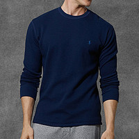 Polo Ralph Lauren Waffle-Knit Crewneck Thermal Shirt - White