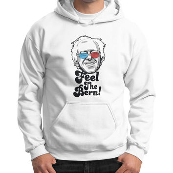 Bernie Sanders Pop Art Portrait  Gildan Hoodie (on man)