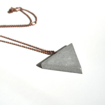 Kahn Equilateral Triangle Concrete Jewelry Industrial Necklace