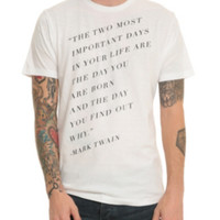 Mark Twain Quote T-Shirt 3XL
