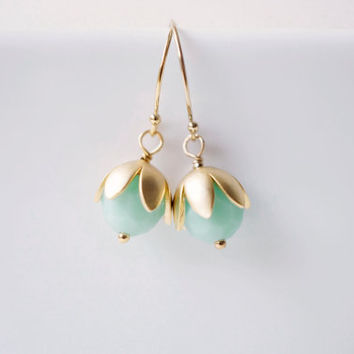 Mint Berry Earrings