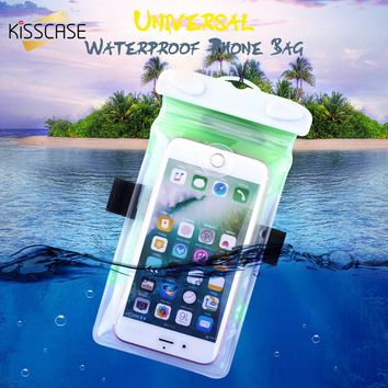 KISSCASE Waterproof Phone Case For iPhone 7 6 Plus Case Huawei Water Resistance Pouch For Samsung Galaxy S8 S7 Edge Xiaomi Case