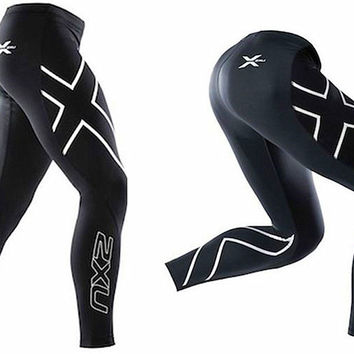 2XU compression pants elastic fitness tight pant Quick-drying bicycle pants
