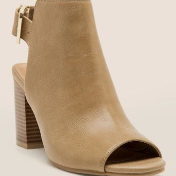Rampage - Twixie Buckle Peep Toe Shootie