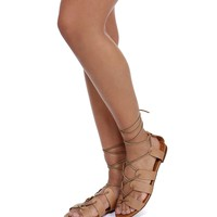 Natural Short Gladiator Sandals
