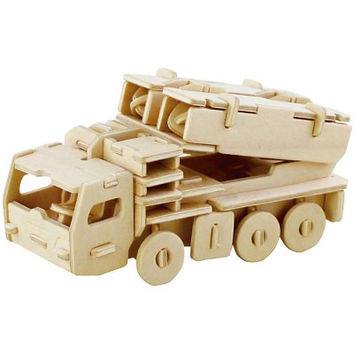Missile Truck 3D Wooden Jigsaw Puzzle Child Educational Miniature Model Toy