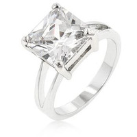 Cubic Zirconia Gypsy Ring, size : 06