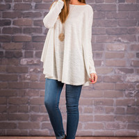 Eyes Locked On You Tunic, Ivory