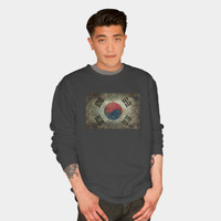 Flag Of South Korea, Vintage Retro Style Crewneck By Bruzer Design By Humans