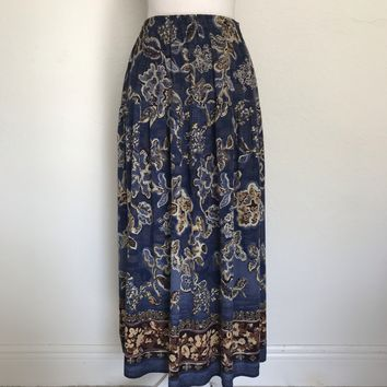 CAROLE LITTLE Women's Plus Size 24 Bohemian Rayon Maxi Skirt