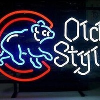 Old Style Beer Neon Sign Display