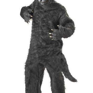 Adult Costumes Big Bad Wolf (One Size,Grey)