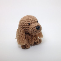 Cocker Spaniel Amigurumi Dog Buff Stuffed Animal Handmade Crochet Puppy Doggie Plush Doll / Made to Order